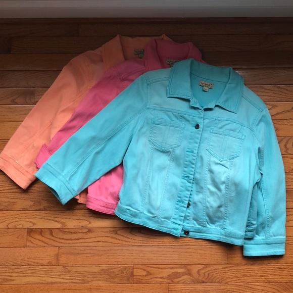 ONE WORLD Jackets & Blazers - 2 One World Med. 3/4 sleeve crop Jean jackets